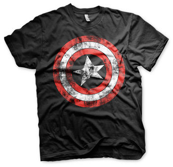 Captain America - Distressed Shield T-Shirt