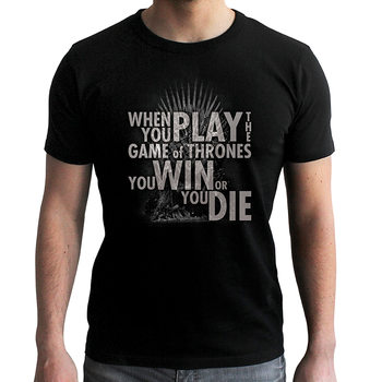Game Of Thrones - Quote Trone L T-Shirt