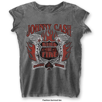 Johnny Cash - Ring Of Fire Ladies T-Shirt