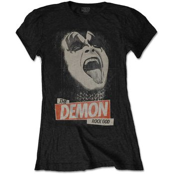 Kiss - The Demon Rock God Ladies T-Shirt