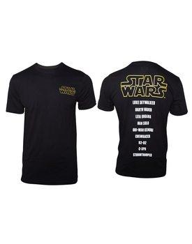 Star Wars - Main Characters List T-Shirt