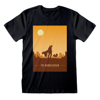 Star Wars: The Mandalorian - Retro Poster T-Shirt