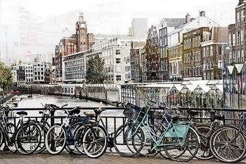 Tableau sur verre Amsterdam