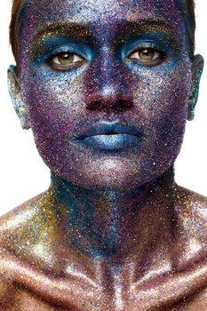 Tableau sur verre Art Woman - Statue of Face