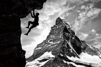 Tableau sur verre Be Brave - Climb the Mountain