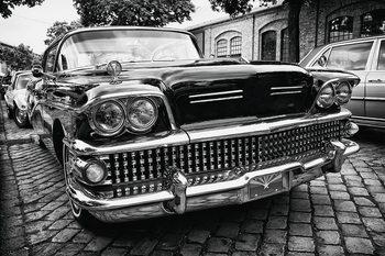 Tableau sur verre Cars - Black Cadillac