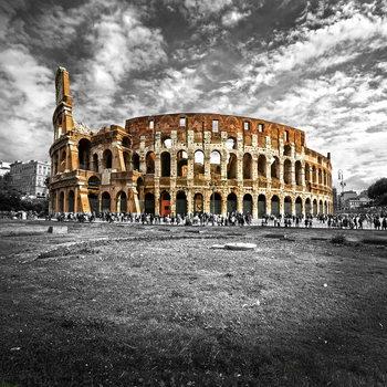 Tableau sur verre Colosseum - b&w