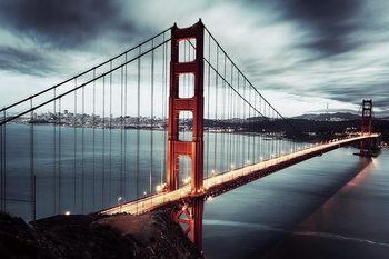 Tableau sur verre Golden Gate - Dark, San Francisco