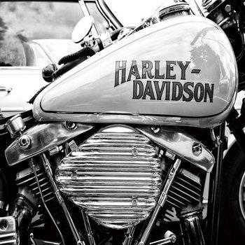 Tableau sur verre Harley Davidson b&w