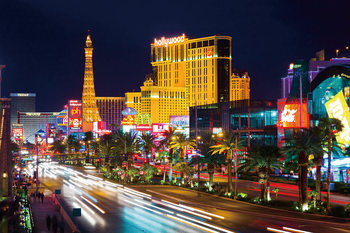 Tableau sur verre Las Vegas At Night