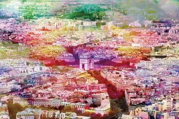 Tableau sur verre Paris - Colored River