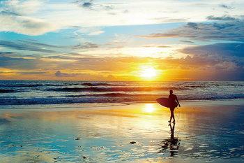 Tableau sur verre Surfing - Enthusiasm