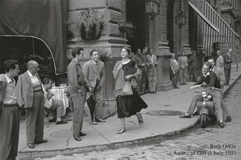 American girl in Italy, 1951 Taidejuliste