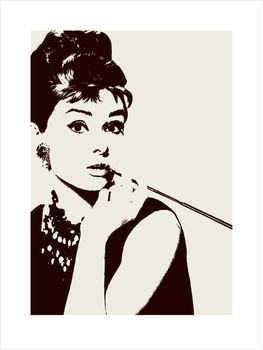 Audrey Hepburn - cigarello Taidejuliste