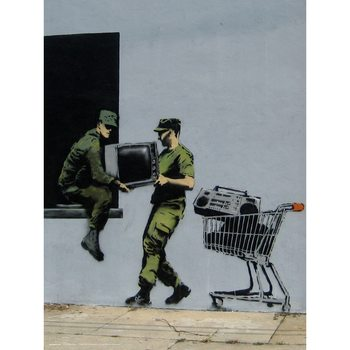 Banksy - Looters Masters Taidejuliste