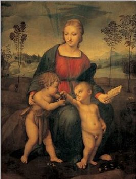 Raphael Sanzio - Madonna of the Goldfinch - Madonna del Cardellino Taide