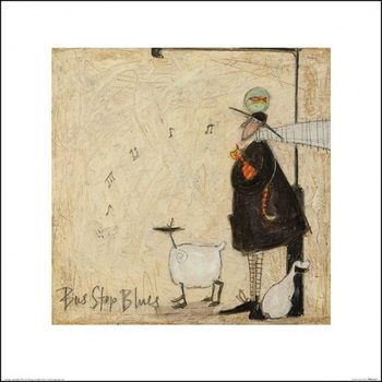 Sam Toft - Bus Stop Blues Taidejuliste