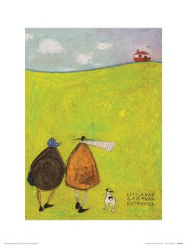 Sam Toft - Little Red Caravan on the Hill Taidejuliste
