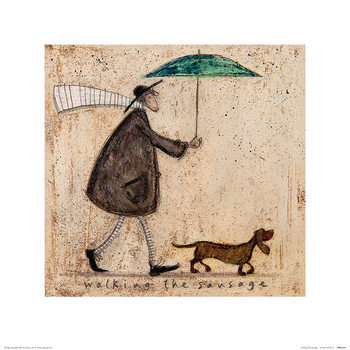 Sam Toft - Walking The Sausage Taidejuliste
