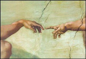 The Creation of Adam (Part) Taidejuliste