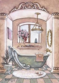 Vintage Bathtub ll Taide