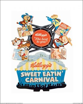 Vintage Kelloggs - Sweet Eatin' Carnival Taide