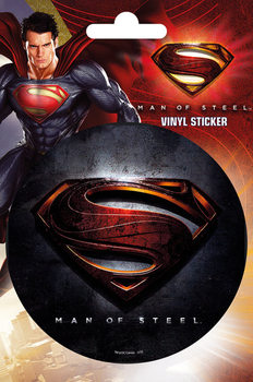 SUPERMAN MAN OF STEEL - logo Vinyylitarra