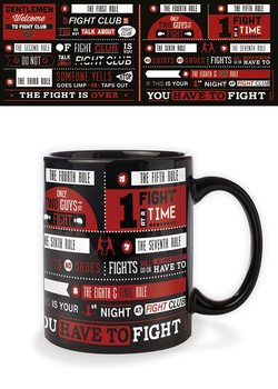 Fight Club - Rules Infographic Tasse