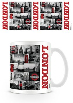 London - Red collage Tasse