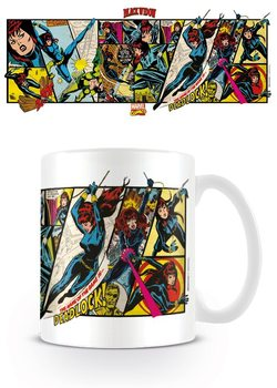 Marvel Retro - Black Widow Panels Tasse