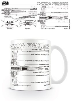 Star Wars - X-Wing Fighter Sketch Tasse