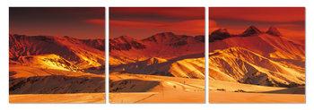 Golden glow over the mountains Taulusarja