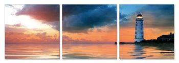Lighthouse at sunset Taulusarja