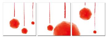 Modern design - red abstraction Taulusarja