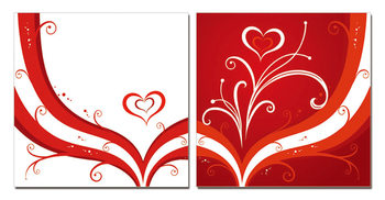 Modern design - the heart Taulusarja