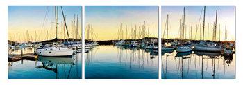Morning in harbor Taulusarja
