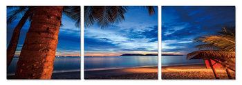 Twilight over palm trees Taulusarja