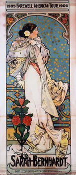 Tela A poster for Sarah Bernhardt's Farewell American Tour