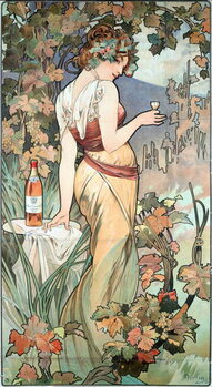 Tela Advertising poster by Alphonse Mucha  for the Cognac Bisquit