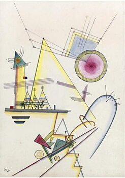 "Tela """"Ame delicate""""  Peinture de Vassily Kandinsky  1925"