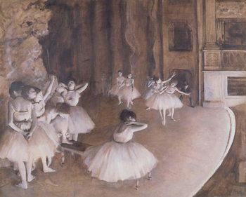 Tela Ballet Rehearsal on the Stage, 1874