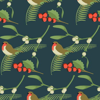 Tela Christmas Robin
