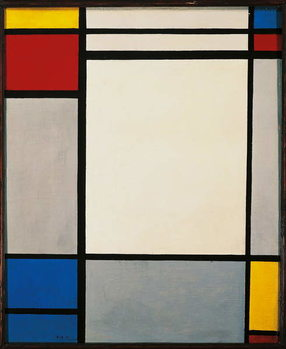 Tela Composition, 1931, by Piet Mondrian . Netherlands, 20th century.