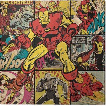 Tela Iron Man - Squares