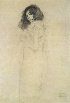Tela Portrait of a young woman, 1896-97