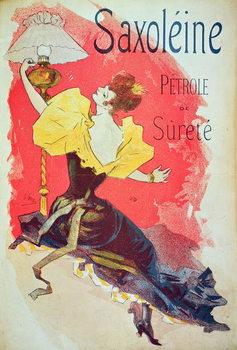 Tela Poster advertising 'Saxoleine', safety lamp oil