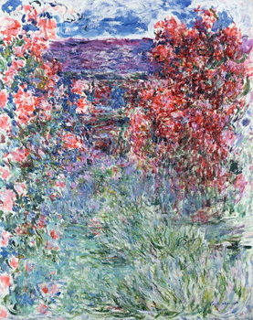 Tela The House at Giverny under the Roses, 1925