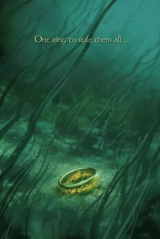 Tela The Lord of the Rings - One ring to rule them all