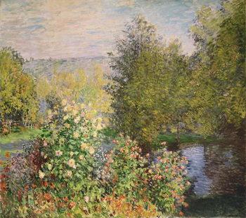 Tela A Corner of the Garden at Montgeron, 1876-7