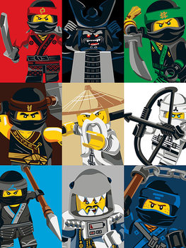Tela  Lego Ninjago Movie - Colour Blocks